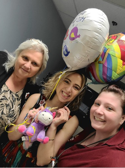 On my last day of fellowship I had so many things to be grateful for. One of them was the support and friendship of all the staff. Here with Pat, the Clinic Manager, and Amanda, admin.